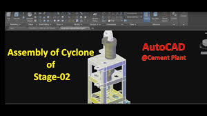 Cement Cyclone Design Autocad Tutorial Cement Plant Pre Heater Assembly Of