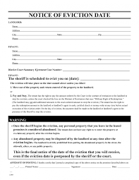 Free Printable Eviction Notice | Nonpayment Of Rent Form ... Warning ...