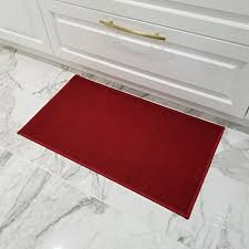 Red kitchen rugs Washable Doormat 18x30 Solid Red Kitchen Rugs And Mats Rubber Backed Non Skid Rug Living Room Jewelryandcompanyco Amazoncom Doormat 18x30 Solid Red Kitchen Rugs And Mats Rubber