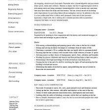 Bartender Skills Resume 92sample Resume For Bartender Bartender
