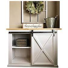 diyhd 39 wooden cabinet sliding hardware mini barn track kit to hang 1 door