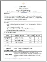 Resume Templates Pdf Free Resume Format For Freshers Mechanical