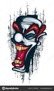 úsměv Klauna Tetování Vektorové Cirkus Joker úspěšné Stock Vektor