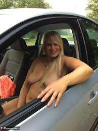 with her pussy in the car