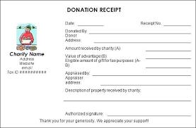 Donation Invoice Template Nonprofit Receipt Sample Donatio