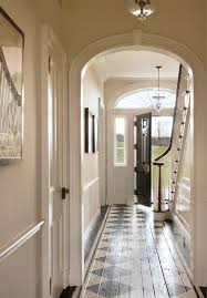 Painted floor boards accents this entryway and hallway perfectly.