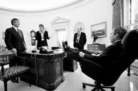 the oval office desk. president george w bush also put his feet on the resolute desk oval office