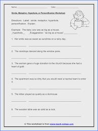 Simile and Metaphor Worksheet | Rosenvoile.com