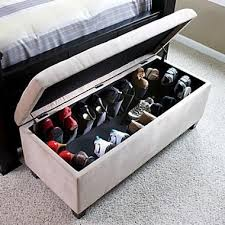 shoe storage ottoman bench. Saw This In The Sky Mall Catalog Today And Want It Little Too Bad Throughout Shoe Storage Ottoman Bench
