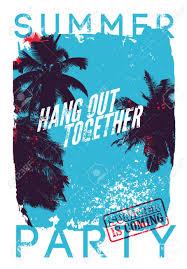 夏のビーチ パーティー表記グランジ ビンテージ ポスター デザイン