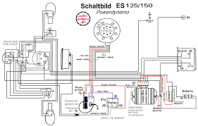 powerdynamo for mz es ts 125 150 6 volt assembly instructions · wiring diagram · wiring diagram of an es 150 the system
