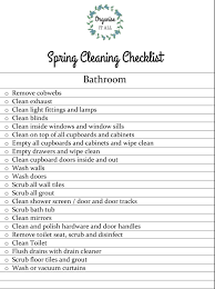 bathroom cleaning schedule. Spring Cleaning Checklist Bathroom Organise It All Checklists Schedulemplate Pdf Weekly Schedule O