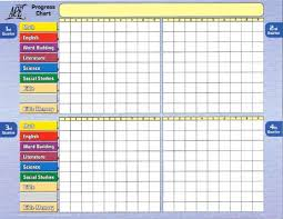 Star Student Chart Student Progress Chart From Accelerated Christian Education Ace