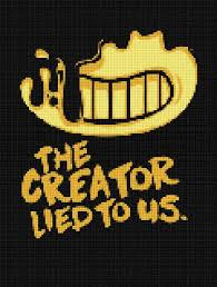 Cross Stitch Chart Generator The Creator Lied To Us Cross Stitch Bendy And The Ink