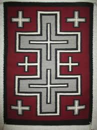 navajo rug with crosses pattern small size