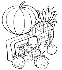 Coloring Pages Healthy Food Coloring Book Holiday 2 Foods Page