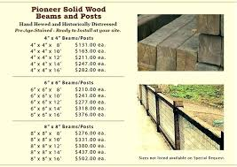 Wood Beam Sizes Wood Beam Prices 6 By 6 Posts Pioneer Solid