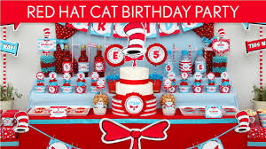 Dr Seuss Party Decorations Dr Seuss Cat In The Hat Birthday Party Ideas Red Hat Cat B20