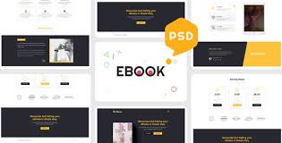 Ebook Template Ebooks One Page Psd Template