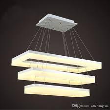 for restaurant foyer bedroom dinning living room modern pc plastic acrylic rectangular square led pendant light led hanging lamp canada 2019 from