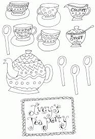 Small Picture Coloring Tea Set Coloring Coloring Pages