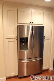 french door refrigerator in kitchen. Remarkable Kitchen Cabinet Refrigerator On 8 Whirlpool 24 5 Cu Ft French Door In Monochromatic G