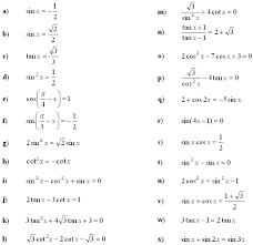 math exercises math problems trigonometric equations and inequalities