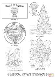Small Picture Oregon State Symbols coloring page Free Printable Coloring Pages