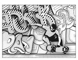 Graffiti Coloring Book For Adults Graffiti Coloring Book Adult