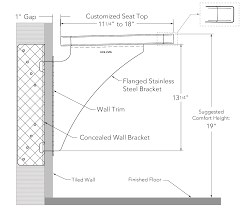 floating bench dimensions