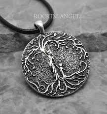 details about antique silver plt mother child tree of life pendant necklace las mums gift