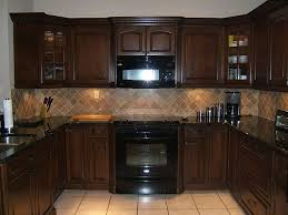 Dark Brown Cabinets Kitchen Small Dark Brown Kitchen Quicuacom