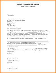 Format Write Application Letter How Internship Others High School