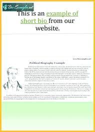 Printable Sample Biography Personal Autobiography Samples Short Bio