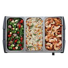 oster large triple warming tray buffet server