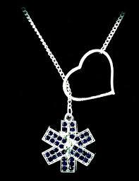 blue star of life necklace nurse