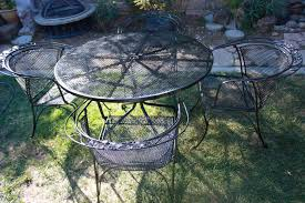 Vintage wrought iron garden furniture Yard Popular Vintage Woodard Patio Furniture Thisisclasswarinfo Popular Vintage Woodard Patio Furniture Patio Decoration Ideas