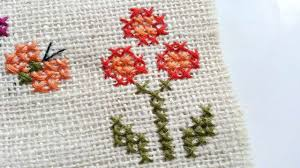 Cross Stitch Flower Patterns Extraordinary How To Create Simple Cross Stitched Flowers DIY Crafts Tutorial
