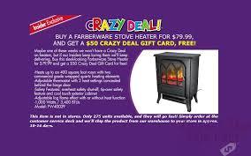 63 off farberware stove heater thru 11 29
