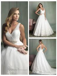 sheer straps v neck and v back ball gown wedding dresses 2454254