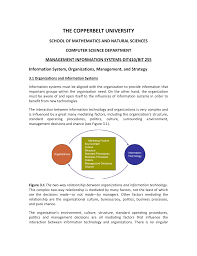 Information System Department Organizational Chart Mis Handout 3