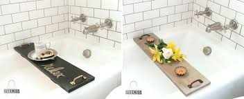 bathtub tray caddy simple and modern bath