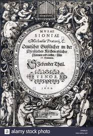 frontispiece of an old song book with songs 1609