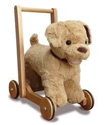 labrador ride on and push along baby walker