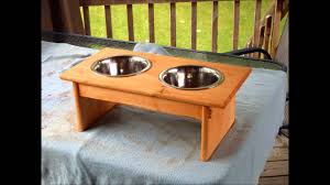 Wooden Dog Bowl Stand Plans
