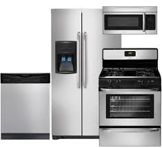 4 Piece Kitchen Appliance Set Stainless Steel Appliances Package For All In One Solution
