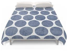 blue polka dots duvet cover contemporary duvet covers and duvet sets by society6