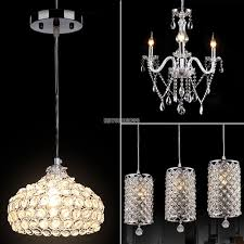 modern crystal chandelier ceiling light pendant lamp fixture for kitchen bar 1 of 11only 5 available