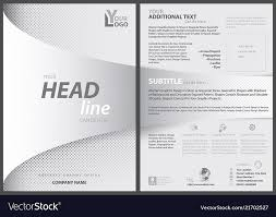 White Flyer Template With Bent Strip Royalty Free Vector
