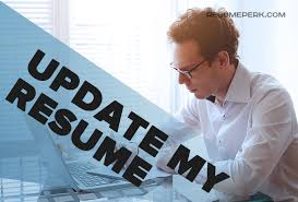 Update My Resume Expert Help Resumeperk Com